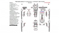 Mercedes M-Class 2006, 2007, 2008, 2009, 2010, 2011, Without OEM Wood, Full Interior Kit, 49 Pcs.