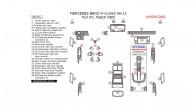 Mercedes M-Class 2006, 2007, 2008, 2009, 2010, 2011, Full Interior Kit, 40 Pcs., Match OEM