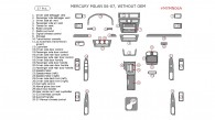 Mercury Milan 2006-2007, Interior Dash Kit, Without OEM, 37 Pcs.