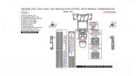 Nissan 350Z 2006, 2007, 2008, 2009, W/o Navigation System, With Manual Transmission, Basic Interior Kit, 19 Pcs.