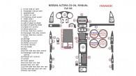 Nissan Altima 2003-2004, Sedan, Full Interior Kit, Manual, 33 Pcs.