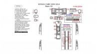 Nissan Cube 2009, 2010, 2011, 2012, 2013, 2014, Basic Interior Kit, 29 Pcs.