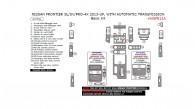 Nissan Frontier 2013, 2014, 2015, 2016, 2017, 2018, SL/SV/PRO-4X, With Automatic Transmission, Basic Interior Kit, 23 Pcs.