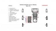 Nissan Maxima 2004, 2005, 2006, Manual, Basic Interior Kit, 16 Pcs.