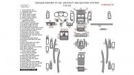 Nissan Maxima 2007-2008, W/o Navigation System, Full Interior Kit, 62 Pcs.