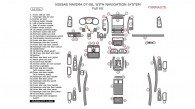 Nissan Maxima 2007-2008, With Navigation System, Full Interior Kit, 61 Pcs.