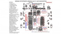 Nissan Armada 2004, 2005, 2006, 2007, Without Navigation, Full Interior Kit, 76 Pcs.
