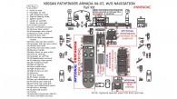 Nissan Armada 2004, 2005, 2006, 2007, Without Navigation, Full Interior Kit, 76 Pcs.