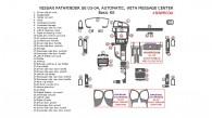 Nissan Pathfinder 2003-2004, SE, Automatic, with Message Center, Basic Interior Kit, 42 Pcs.