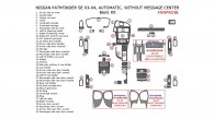 Nissan Pathfinder 2003-2004, SE, Automatic, W/o Message Center, Basic Interior Kit, 42 Pcs.