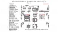 Nissan Pathfinder 2005, 2006, 2007, W/o Navigation System, With Digital A/C, Full Interior Kit, 39 Pcs.