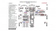 Nissan Pathfinder 2008, 2009, 2010, 2011, 2012, (SE/LE) Full Interior Kit, 43 Pcs.