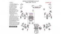 Nissan Pathfinder 2013, 2014, 2015, 2016, Full Interior Kit, 43 Pcs., Match OEM