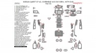 Nissan Quest 2007, 2008, 2009, 2010, Overhead W/o Skyview, With DVD, Full Interior Kit, 70 Pcs.