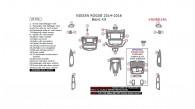 Nissan Rogue 2014, 2015, 2016, Basic Interior Kit, 26 Pcs.