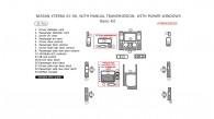 Nissan Xterra 2005, 2006, 2007, 2008, Manual, With Power Windows, Basic Interior Kit, 21 Pcs.