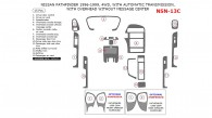 Nissan Pathfinder 1996, 1997, 1998, 1999, Interior Dash Kit, 4WD, With Automatic Transmission, With Overhead Without Message Center, 15 Pcs.