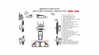 Nissan Altima 1993, 1994, 1995, 1996, 1997, Interior Dash Kit, Automatic, Without Clock, 23 Pcs., Match OEM