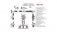 Nissan Altima 1993, Full Interior Kit, Automatic, With Clock, 26 Pcs.