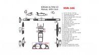Nissan Altima 1993, Full Interior Kit, Manual, With Clock, 26 Pcs.