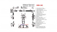 Nissan Altima 1994, 1995, 1996, 1997, Full Interior Kit, Automatic, With Clock, 27 Pcs.