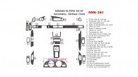 Nissan Altima 1994, 1995, 1996, 1997, Full Interior Kit, Automatic, Without Clock, 27 Pcs.