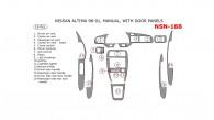 Nissan Altima 1998, 1999, 2000, 2001, Interior Dash Kit, Manual, With Door Panels, 16 Pcs.