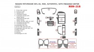 Nissan Pathfinder 1999.5-2000, Interior Dash Kit, Automatic, With Message Center, 4WD, 16 Pcs.