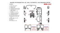 Nissan Pathfinder 1999.5-2000, Interior Dash Kit, Automatic, Without Message Center, 4WD, 15 Pcs.