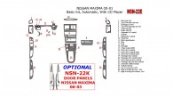 Nissan Maxima 2000-2001, Basic Interior Kit, Automatic, Radio With CD Player, 27 Pcs.