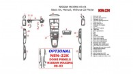 Nissan Maxima 2000-2001, Basic Interior Kit, Manual, Radio Without CD Player, 28 Pcs.