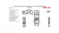 Nissan Frontier 2002, 2003, 2004, Manual, With Power Windows, Basic Interior Kit, 14 Pcs.