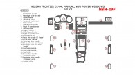 Nissan Frontier 2002, 2003, 2004, Manual, Without Power Windows, Full Interior Kit, 24 Pcs.