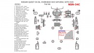 Nissan Quest 2004, 2005, 2006, Full Interior Kit, Without SkyView, With DVD, 52 Pcs.