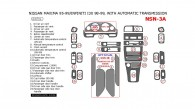 Infiniti I 1998-1999, Nissan Maxima 1995, 1996, 1997, 1998, 1999, Interior Dash Kit, With Automatic Transmission, 24 Pcs.