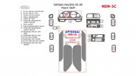 Nissan Maxima 1995, 1996, 1997, 1998, 1999, Interior Dash Kit, Match OEM, 15 Pcs.