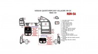 Mercury Villager/Nissan Quest 1999, 2000, 2001, 2002, 2003, Basic Interior Kit, 17 Pcs.