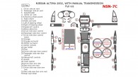 Nissan Altima 2002, Full Interior Kit, Manual, 33 Pcs.