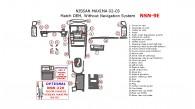 Nissan Maxima 2002-2003, Interior Dash Kit, Without Navigation System, 31 Pcs., OEM Match.