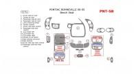 Pontiac Bonneville 2000, 2001, 2002, 2003, 2004, 2005, Interior Dash Kit, Bench Seats, 16 Pcs.