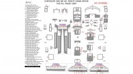 Chrysler 300 2008, 2009, 2010, Right Hand Drive, Full Interior Kit, 86 Pcs., Match OEM