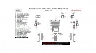 Honda S2000 2004, 2005, 2006, 2007, 2008, 2009, Right Hand Drive, Main Interior Kit, 25 Pcs.