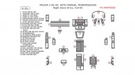 Mazda 5 2006-2007, Right Hand Drive, With Manual Transmission, Full Interior Kit, 41 Pcs.