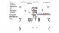 Mazda 6 2003, 2004, 2005, Basic Interior Kit (Right Hand Drive), 23 Pcs.