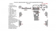 Toyota Land Cruiser 1998, 1999, 2000, 2001, 2002, Right Hand Drive, With Navigation System, Full Interior Kit, 34 Pcs.