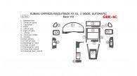 Subaru Impreza 1997, 1998, 1999, 2000, 2001, RS/Outback, 2 Door, Automatic, Basic Interior Kit, 16 Pcs.