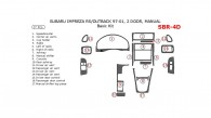 Subaru Impreza 1997, 1998, 1999, 2000, 2001, RS/Outback, 2 Door, Manual, Basic Interior Kit, 17 Pcs.