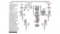 Suzuki Grand Vitara 2006, 2007, 2008, 2009, 2010, 2011, 2012, 2013, With Automatic Transmission, Full Interior Kit, 57 Pcs.
