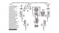 Suzuki Grand Vitara 2006, 2007, 2008, 2009, 2010, 2011, 2012, 2013, With Manual Transmission, Full Interior Kit, 56 Pcs.