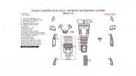 Suzuki Kizashi 2010, 2011, 2012, 2013, Without Navigation System, Basic Interior Kit, 24 Pcs.